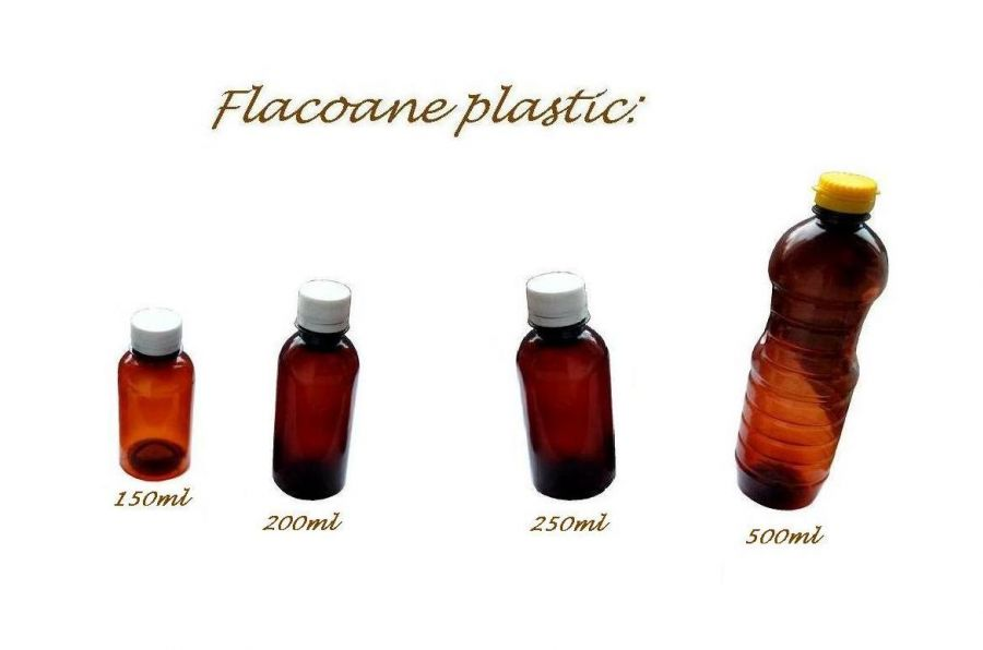 flacon din plastic 150-200-250-500 ml