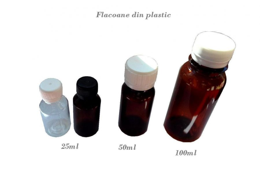 flacon din plastic 25-50-100 ml